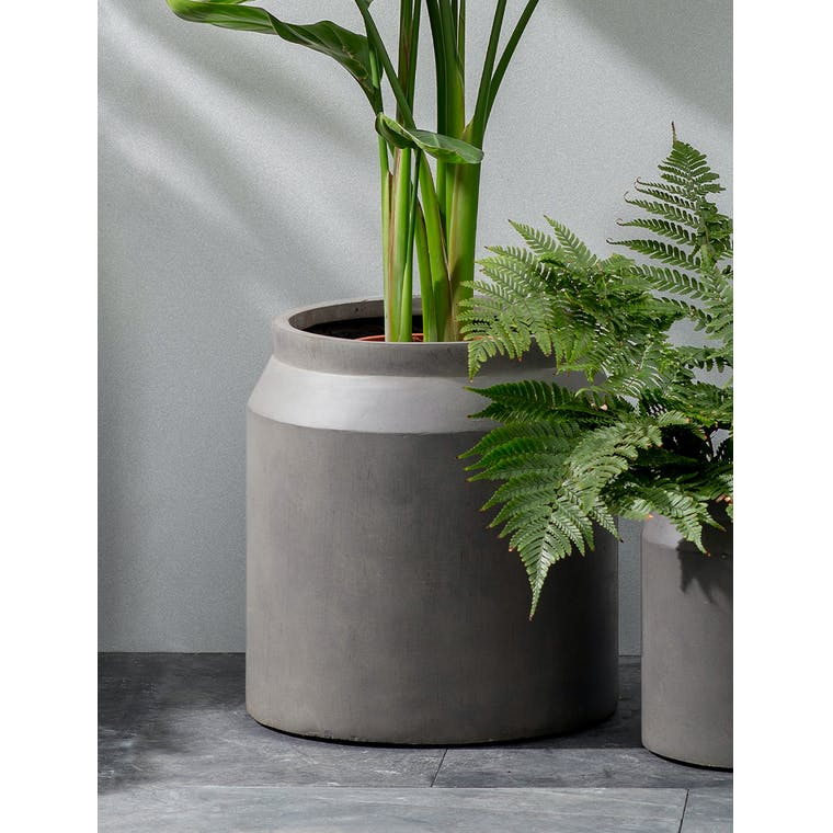 Draycott Planter, Large in Pebble by Garden Trading