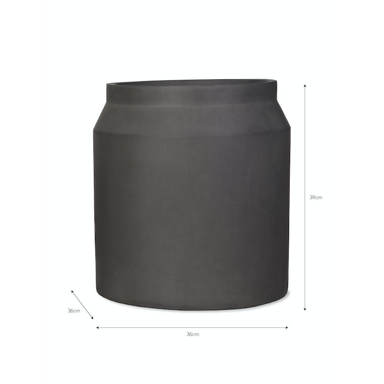 Fibre Clay Draycott Planter, Large in Natural or Grey | Garden Trading
