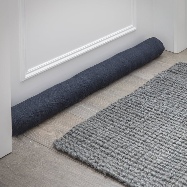 Linen Draught Excluder in Black | Garden Trading