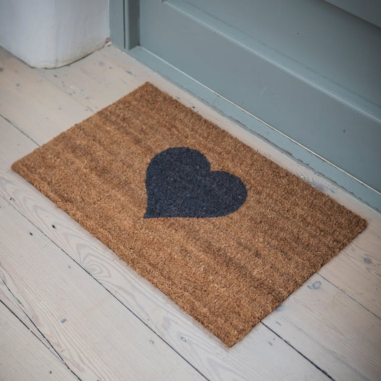 Indoor Heart Doormat in Small or Large | Garden Trading