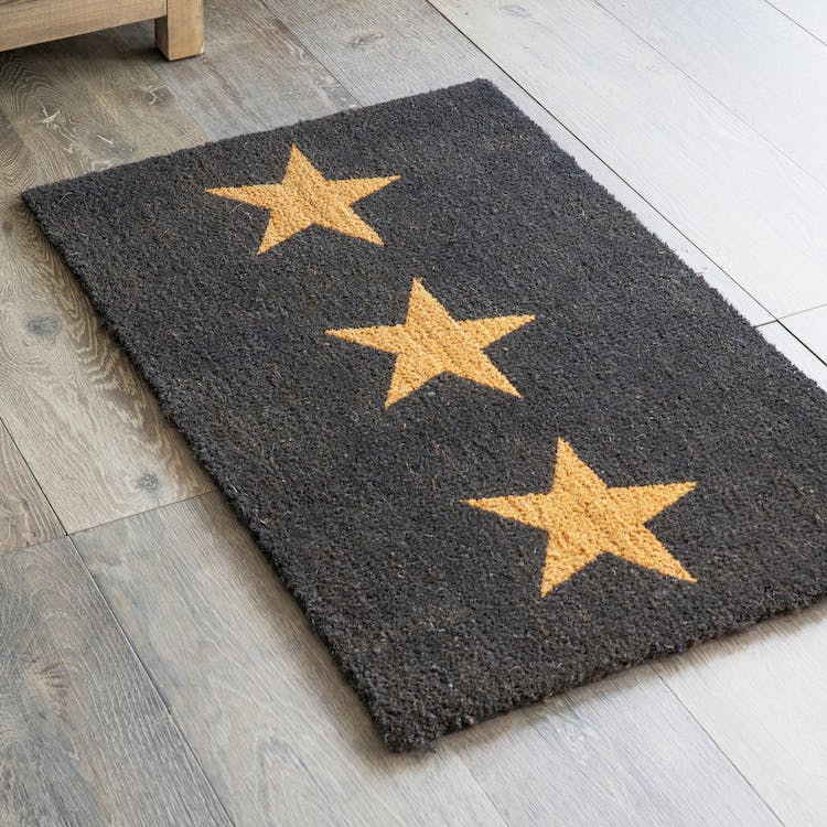 Indoor Doormat With 3 Stars In Small Or Large Garden Trading