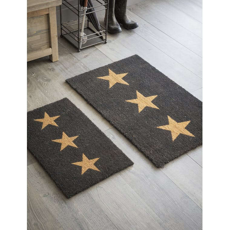 Indoor Doormat with 3 Stars in Small or Large | Garden Trading