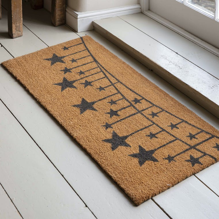 Coir Double Doormat in Charcoal Border  | Garden Trading