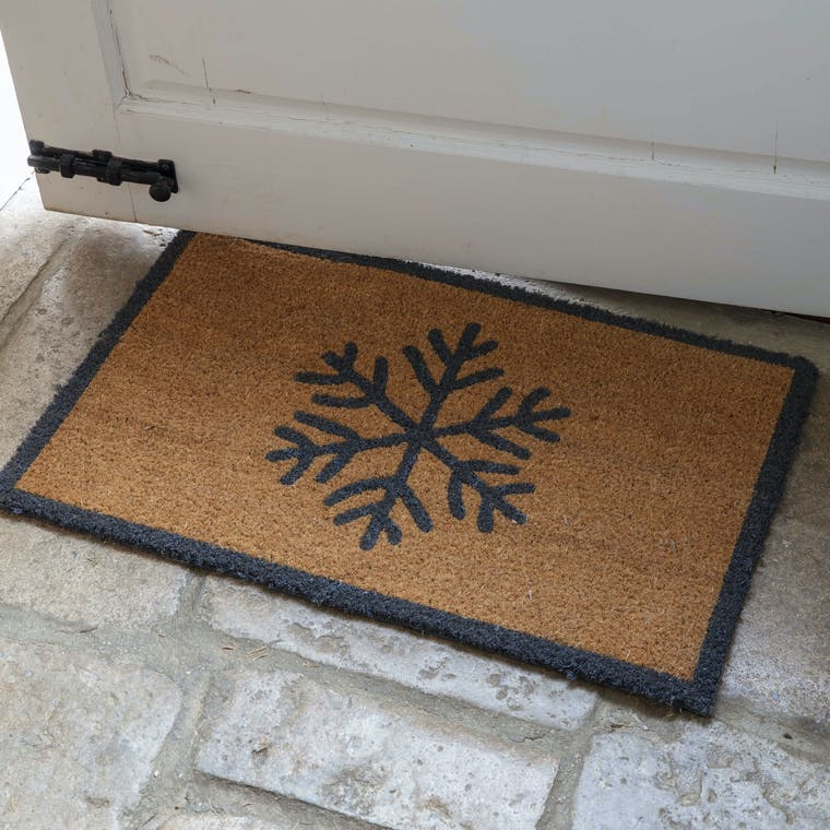 Coir Snowflake Doormat in Small or Large | Garden Trading