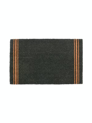 Forest Green Triple Stripe Doormat