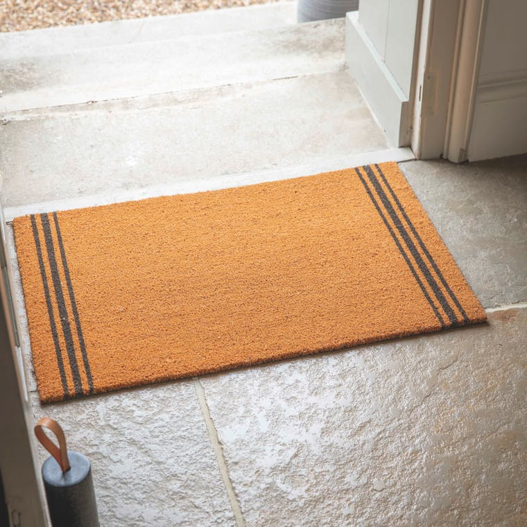 Coir Natural Triple Star Doormat in Small or Large | Garden Trading