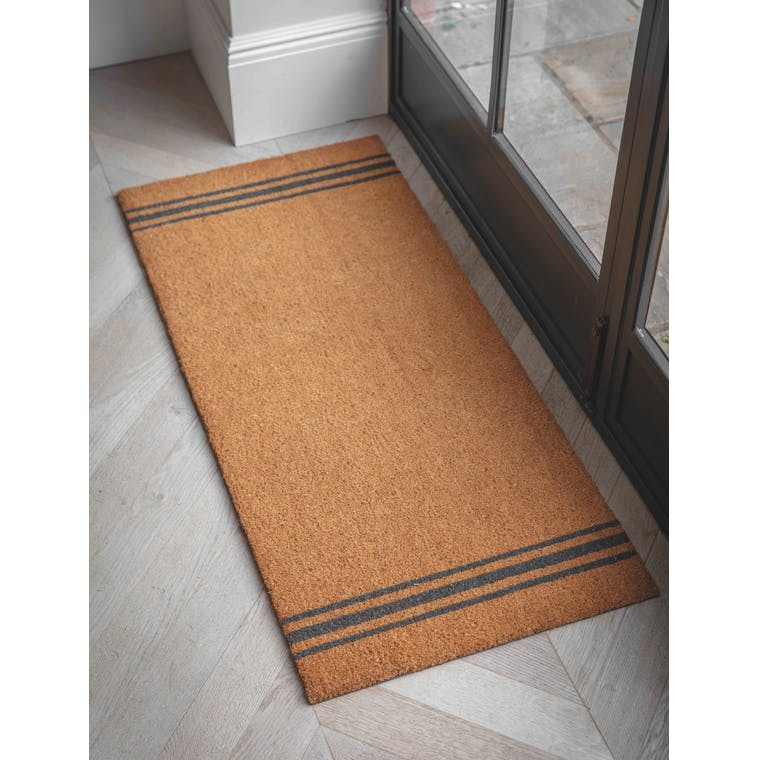 Double Doormat in Black Border, Bunting or Stripe | Garden Trading