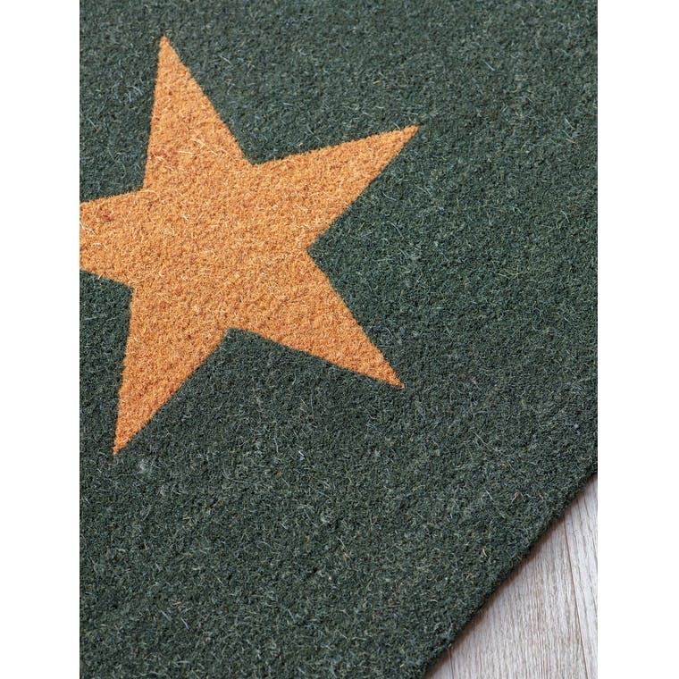 Coir Green Star Doormat in Small or Large | Garden Trading
