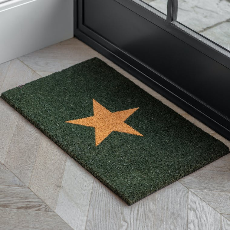 Forest Green Star Doormat