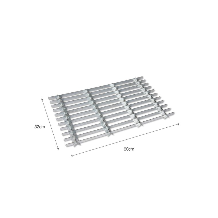Galvanised Steel Outdoor Doormat in Small or Large | Garden Trading
