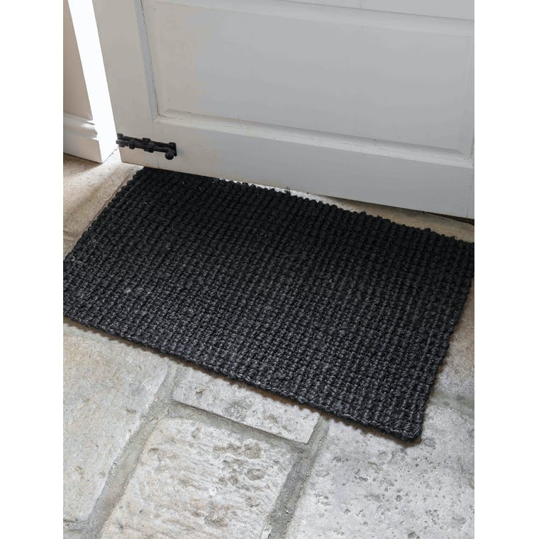 Garden Trading Woven Doormat in Black