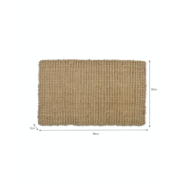 Jute Woven Doormat in Natural or Black | Garden Trading