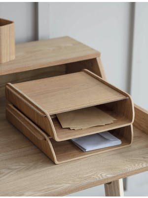 Brushfield Stacking Desk Organiser