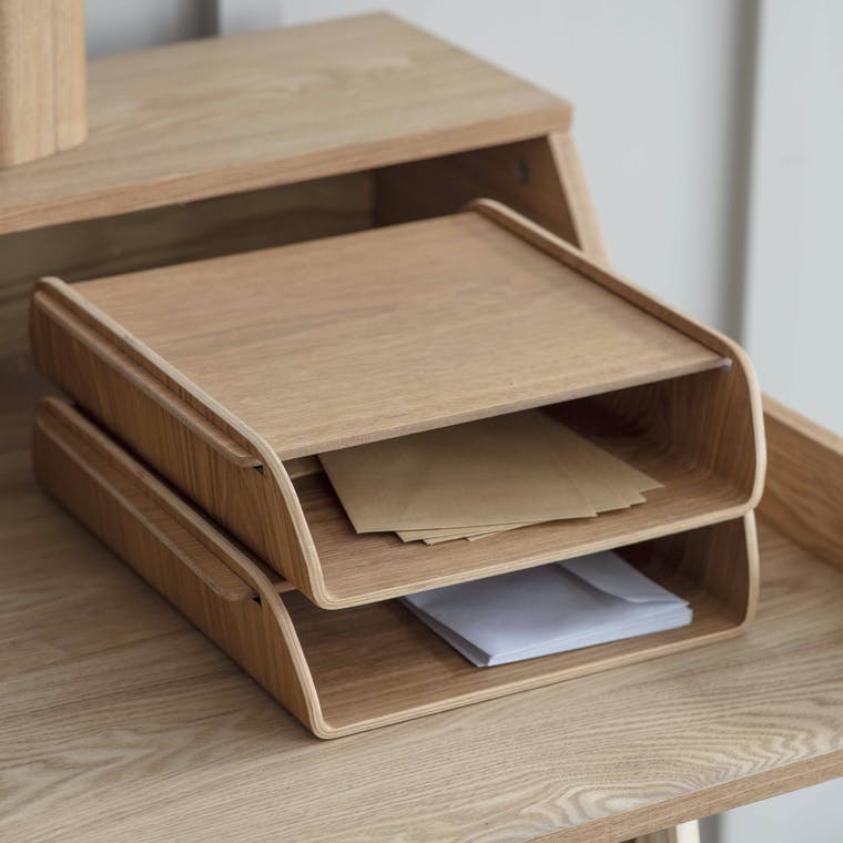 Wooden Brushfield Stacking Desk Organiser | Garden Trading