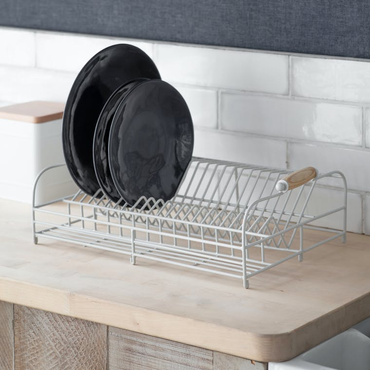 Wire Dish Rack in White | Garden Trading