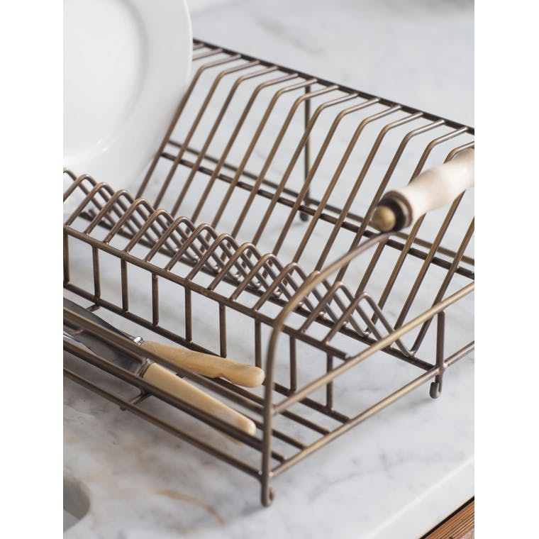 Antique Brass Brompton Dish Rack | Garden Trading