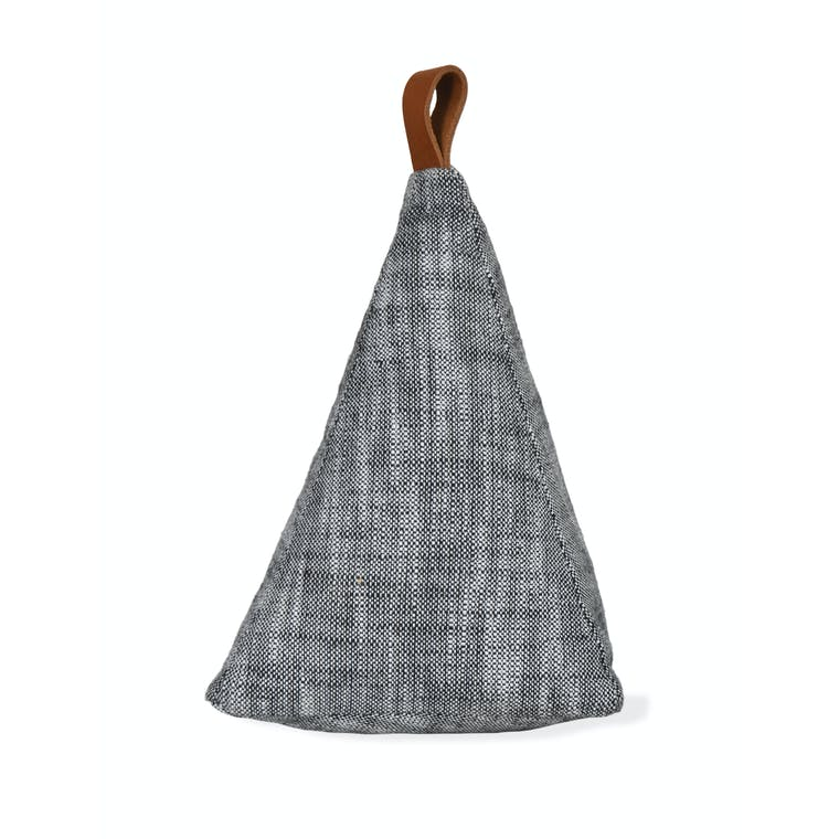 Black Chambray Pyramid Doorstop | Garden Trading