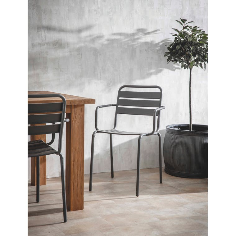 Garden Trading Set of 2 Dean Street Chairs in Carbon