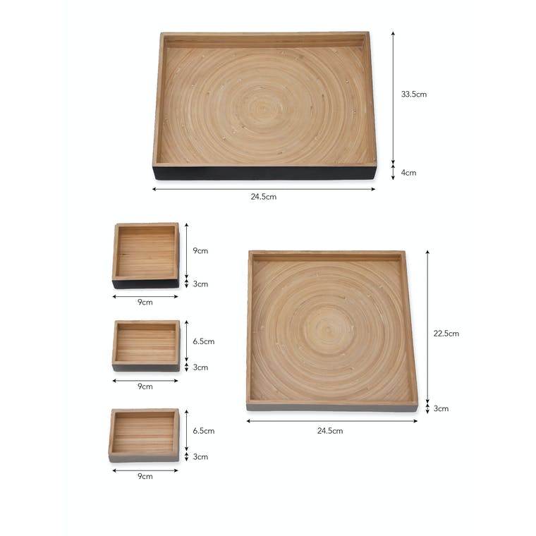 Bamboo Set of 5 Purbeck Desk Trays | Garden Trading
