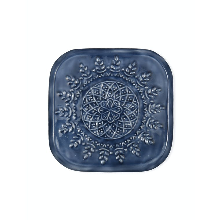 Steel Fiskardo Drinks Tray in Blue | Garden Trading