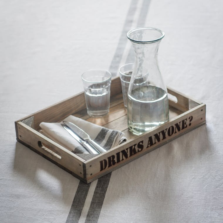 Wooden Drinks Anyone? Tray  | Garden Trading