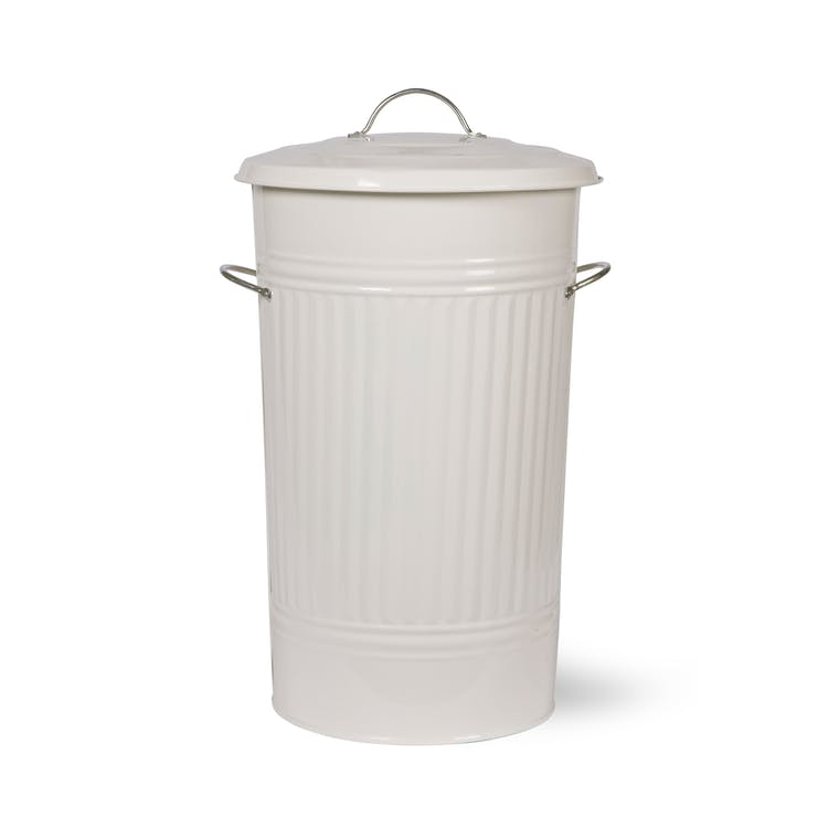 Steel Kitchen Bin in White  | Garden Trading