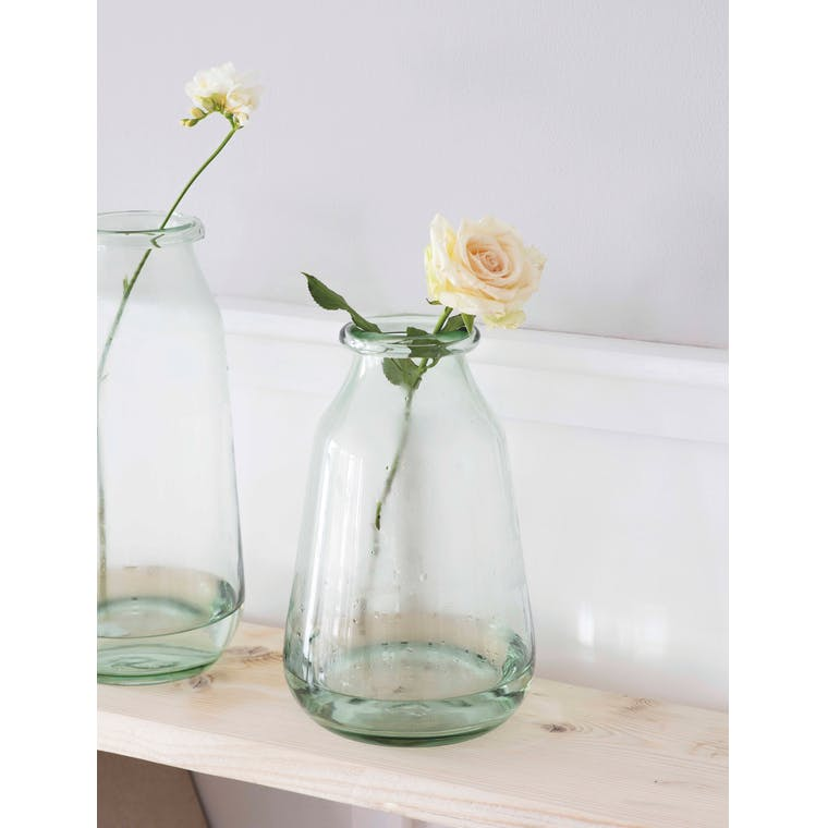 Recycled Glass Didbrook Vase in Medium or Large | Garden Trading