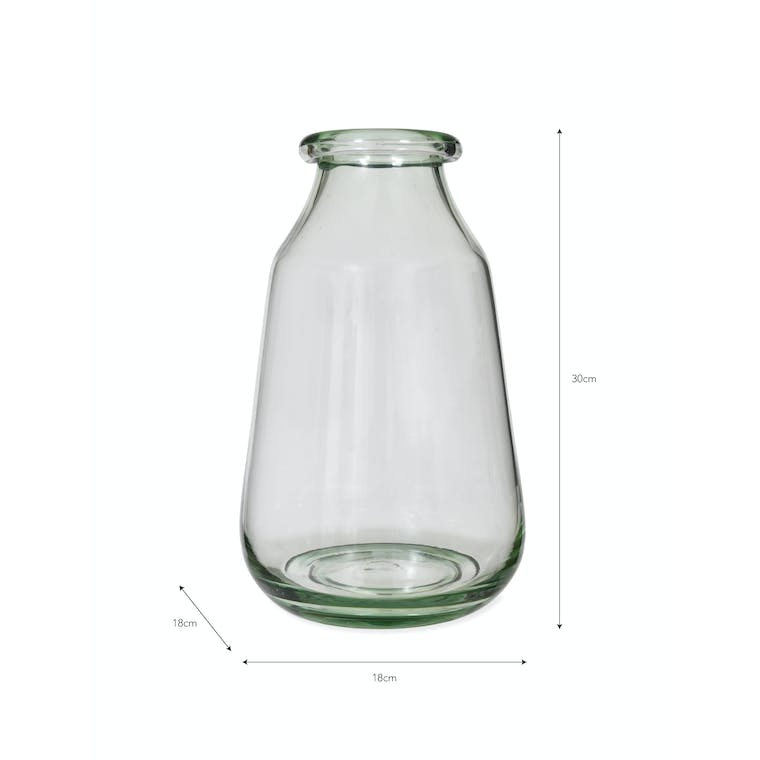 Recycled Glass Didbrook Vase in Medium or Large   Garden Trading