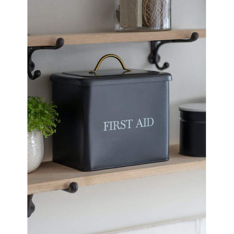 Steel First Aid Box in White | Garden Trading