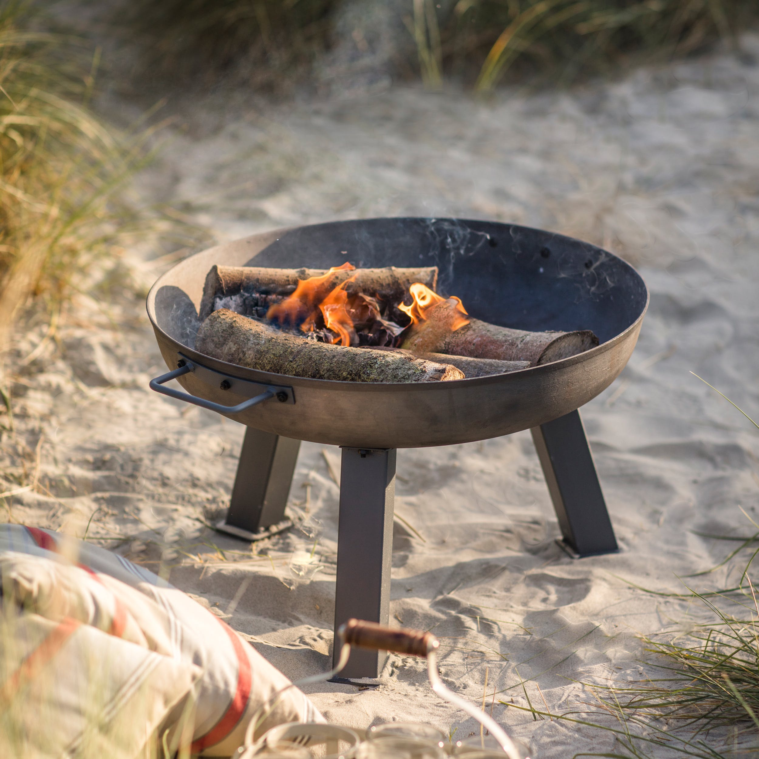 Raw Metal Foscot Fire Pit in Small, Medium or Large   Garden Trading