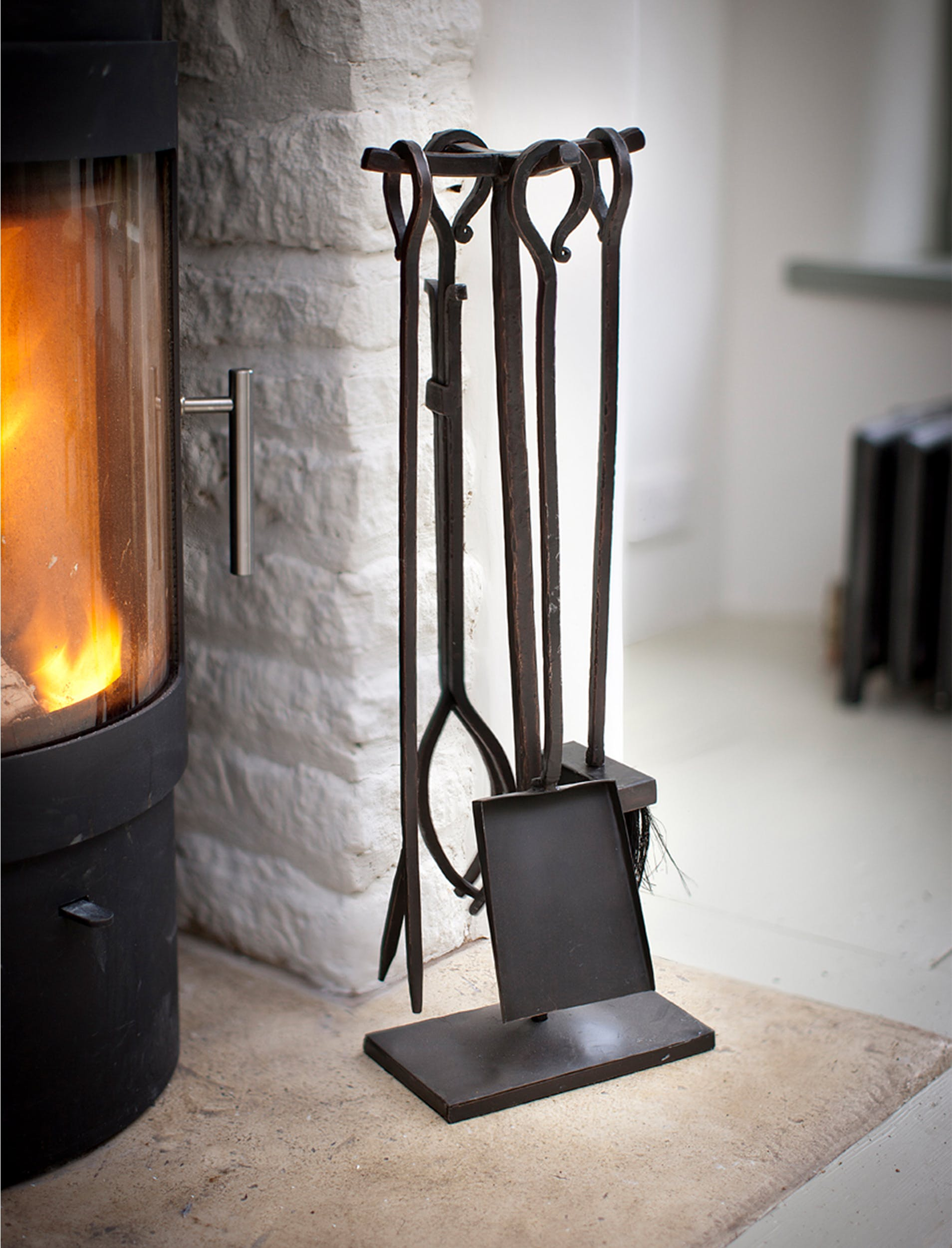 Wrought Iron Fireside Set of 4 Tools    Garden Trading