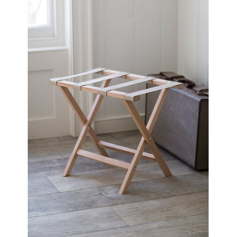 Wooden Weekend Folding Luggage Rack | Garden Trading