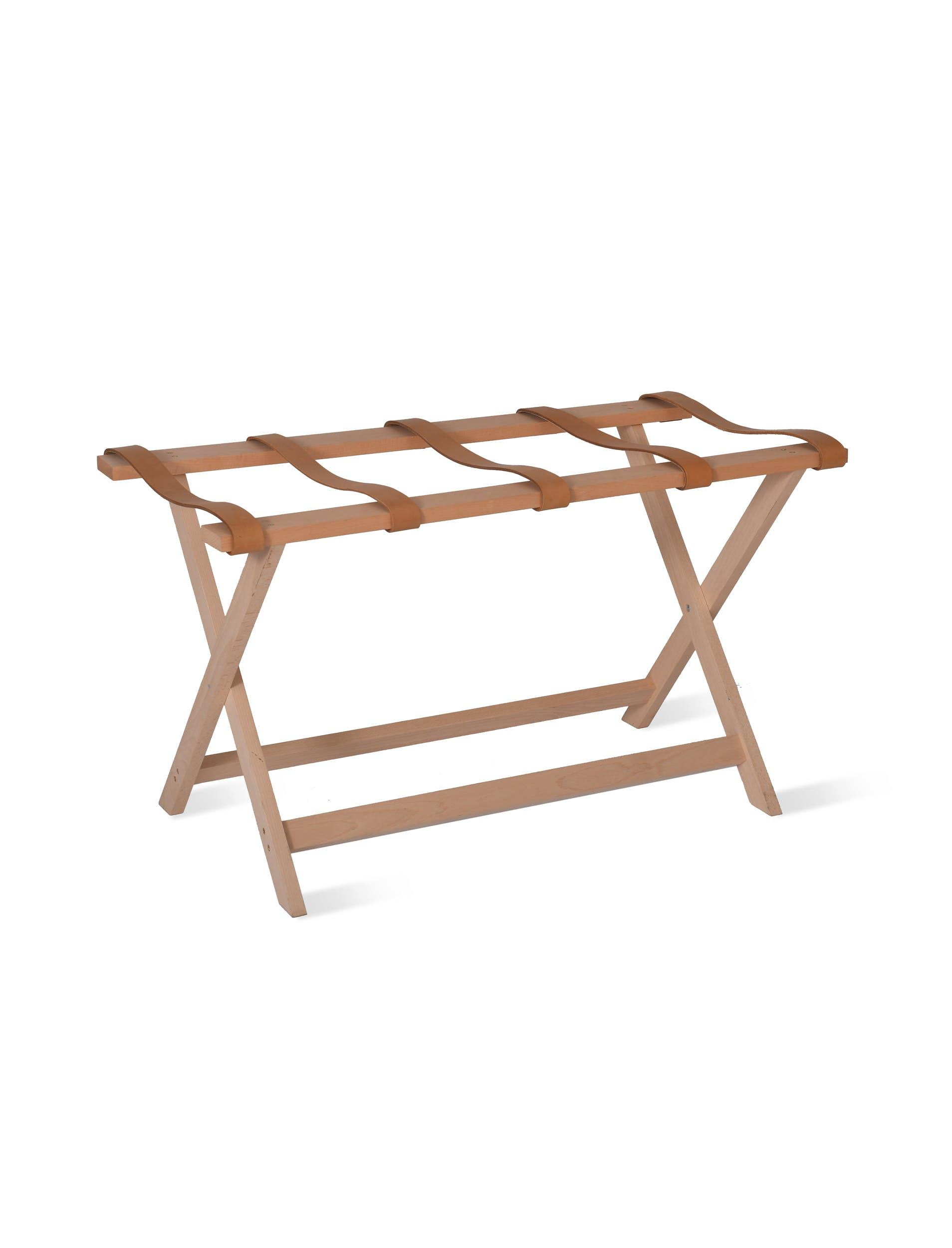 Wood and Leather Kelston Folding Luggage Bench | Garden Trading