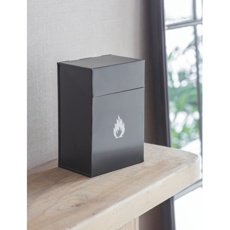 Steel Firelighter Box in Black  | Garden Trading