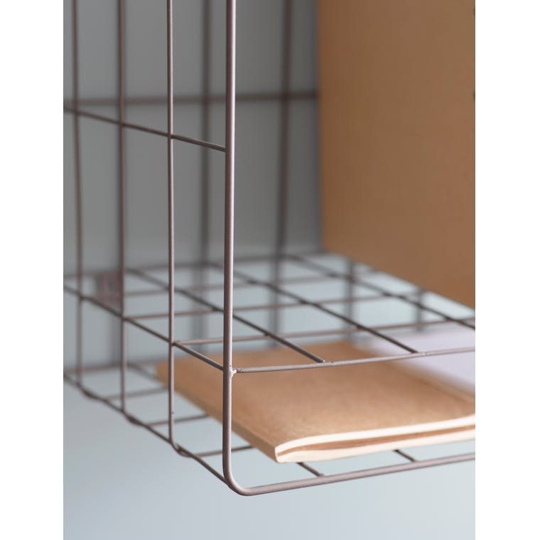 Wirework Farringdon File Storage in Grey | Garden Trading