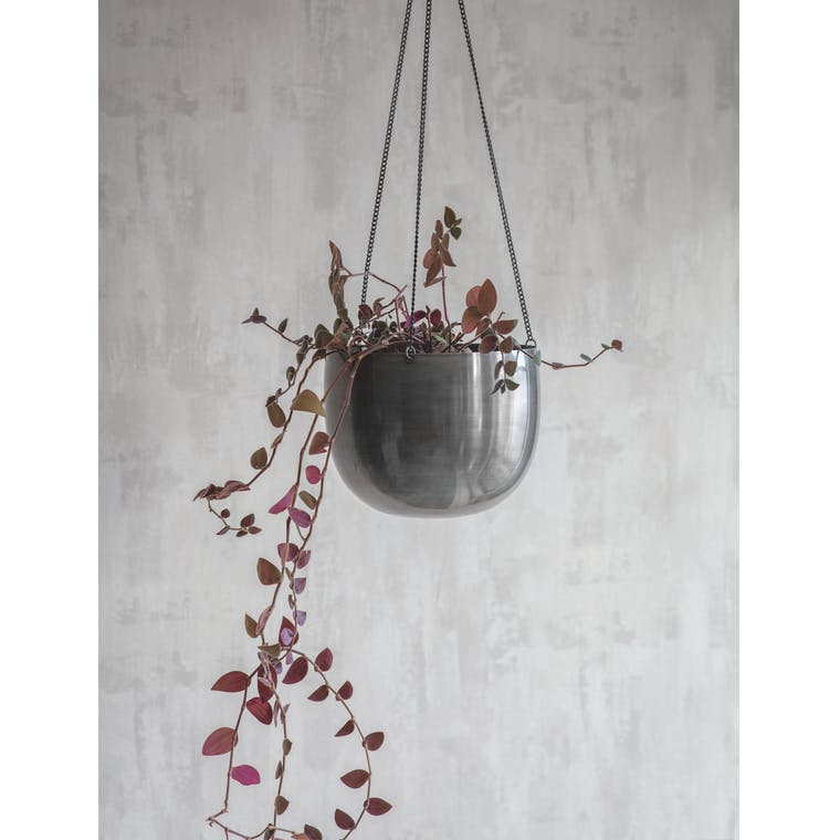 Steel Farringdon Hanging Plant Pot in Small or Large | Garden Trading