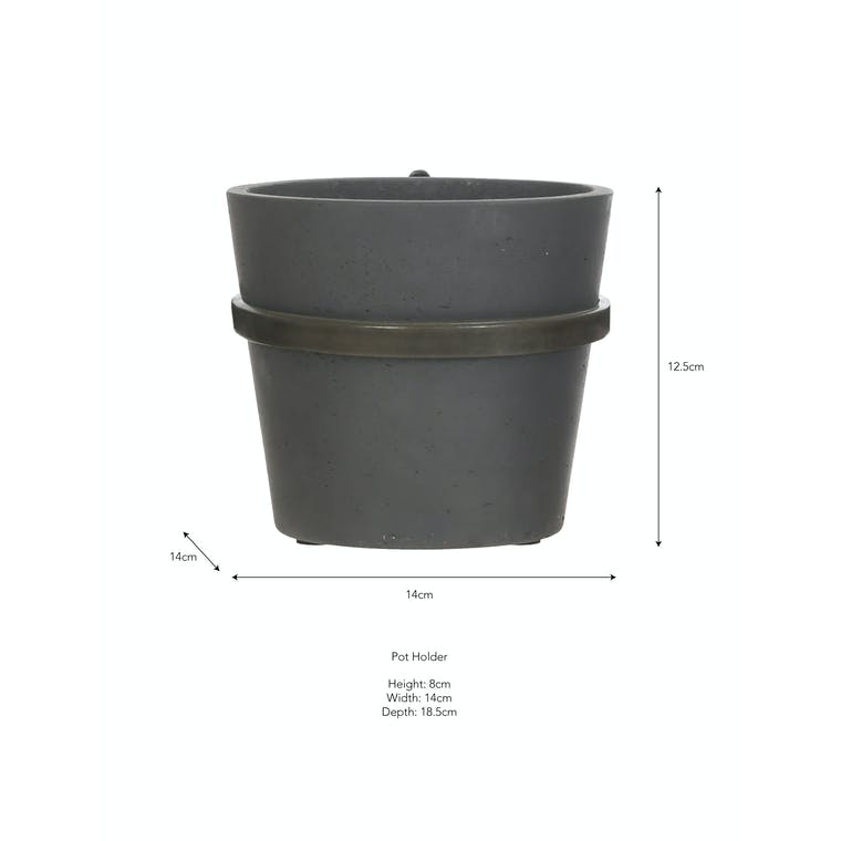 Single Stratton Wall Pot Holder in Natural or Black   Garden Trading