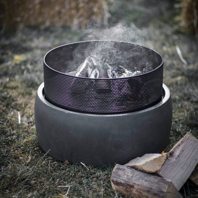 Steel Lyneham Square or Round Fire Pit | Garden Trading