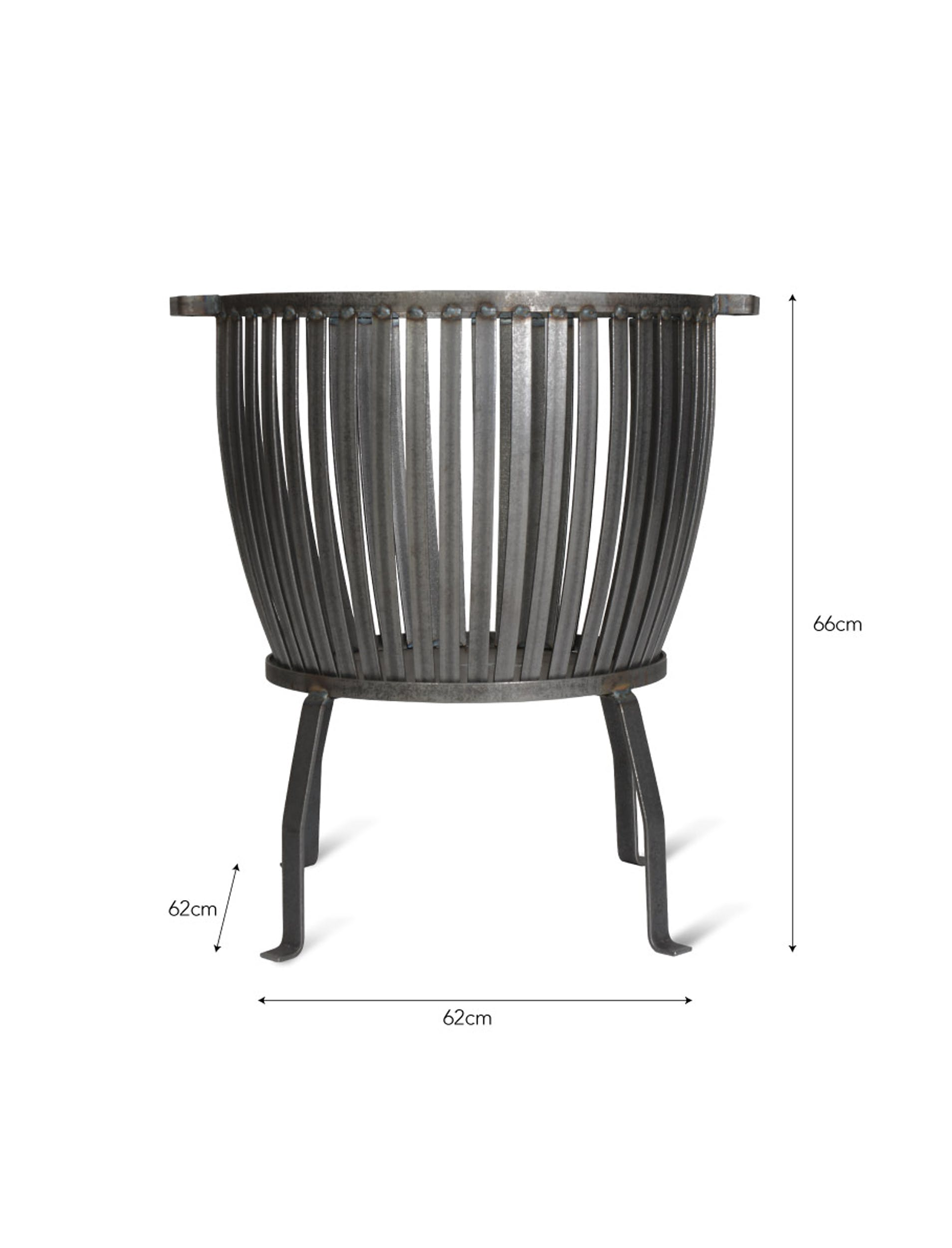 Raw Metal Barrington Fire Pit in Small or Large  | Garden Trading