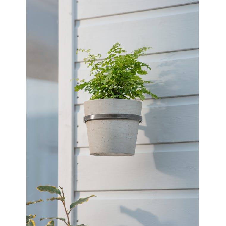 Single Stratton Wall Pot and Holder in Stone by Garden Trading