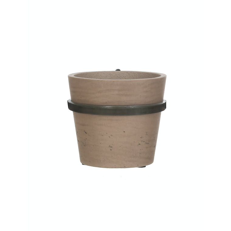 Single Stratton Wall Pot Holder in Natural or Black | Garden Trading