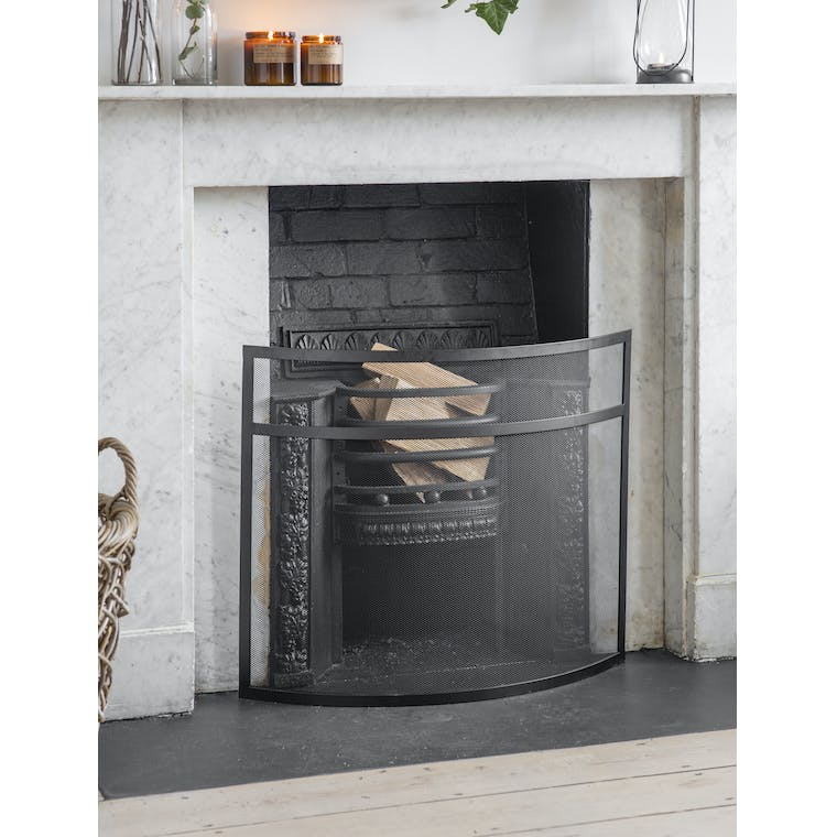 Garden Trading Small Bretforton Firescreen in Black