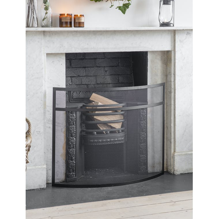 Garden Trading Large Bretforton Firescreen in Black