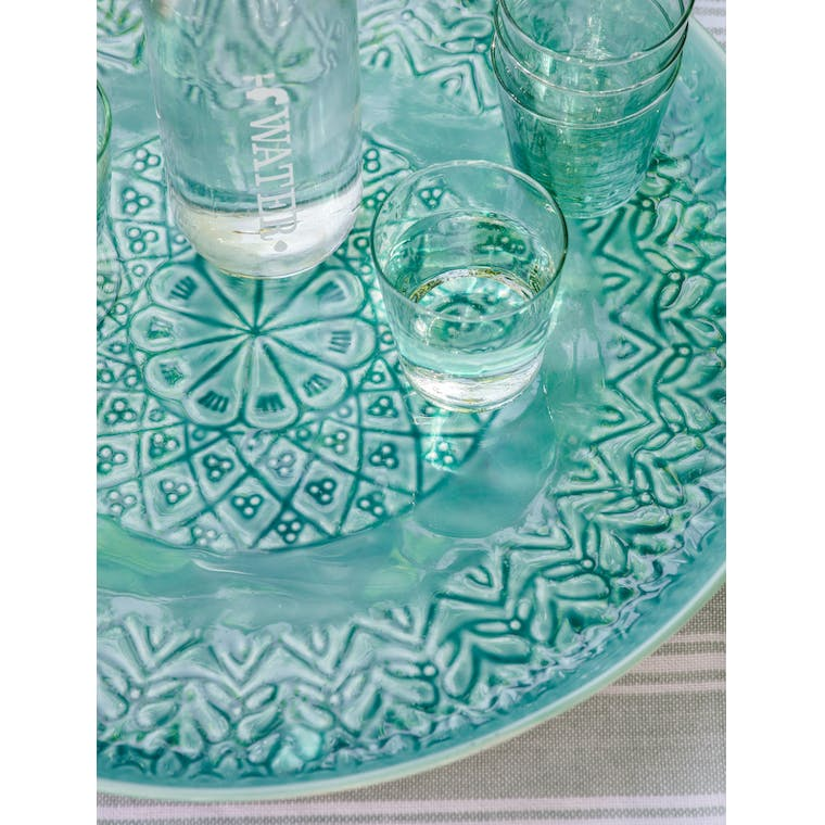 Steel Fiskardo Serving Tray in Teal | Garden Trading