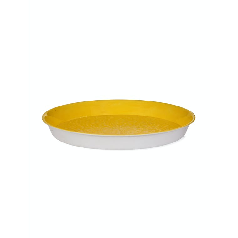 Steel Fiskardo Tray in Lemon | Garden Trading