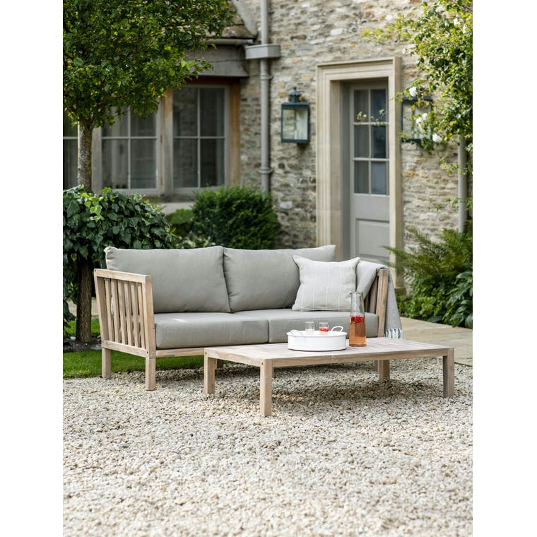 Wooden Porthallow Outdoor 2 Seater Sofa | Garden Trading