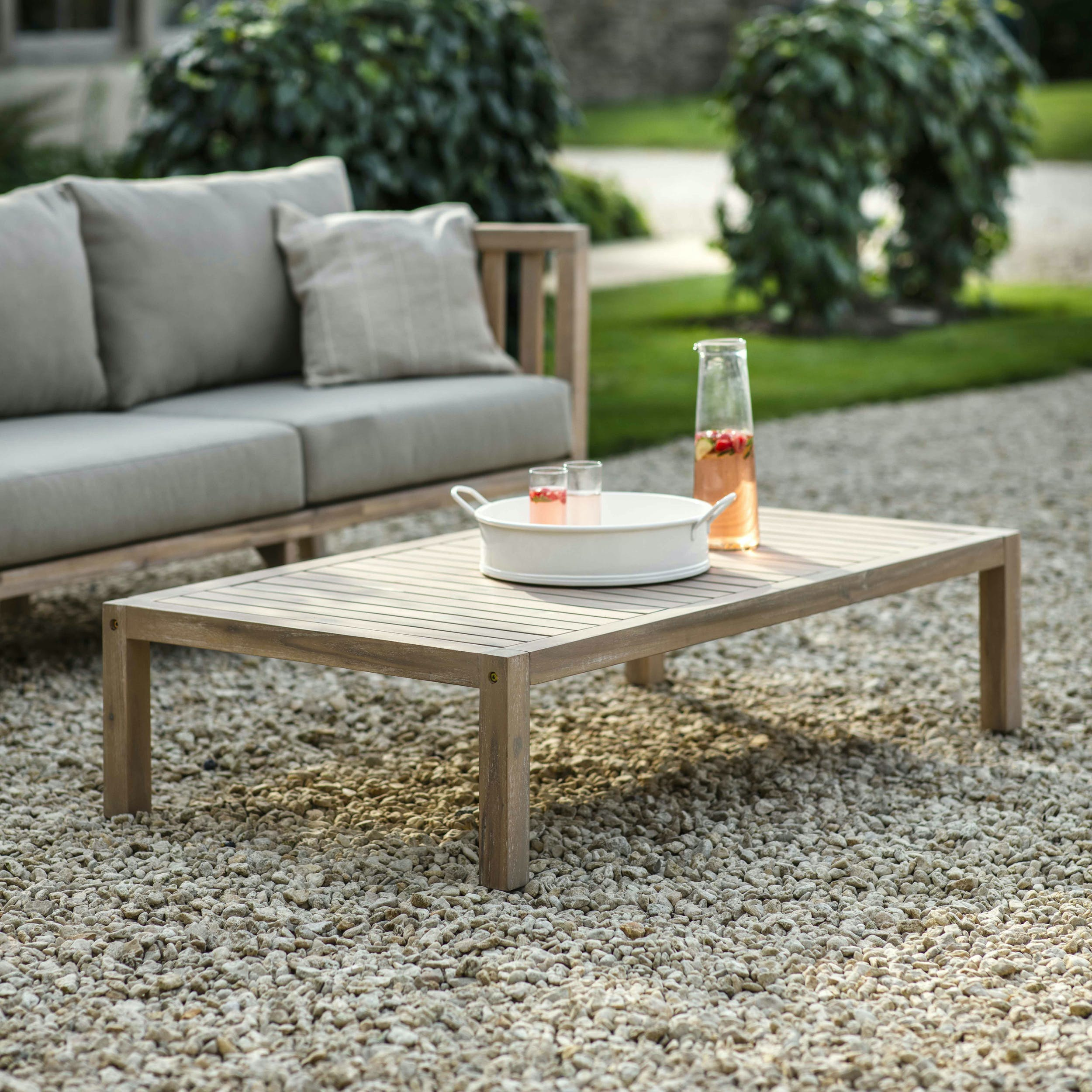 Wooden Porthallow Outdoor Coffee Table