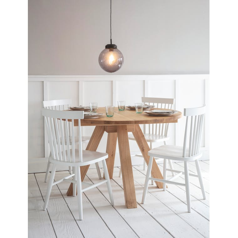 Oak Round Dining Table in Brown | Garden Trading