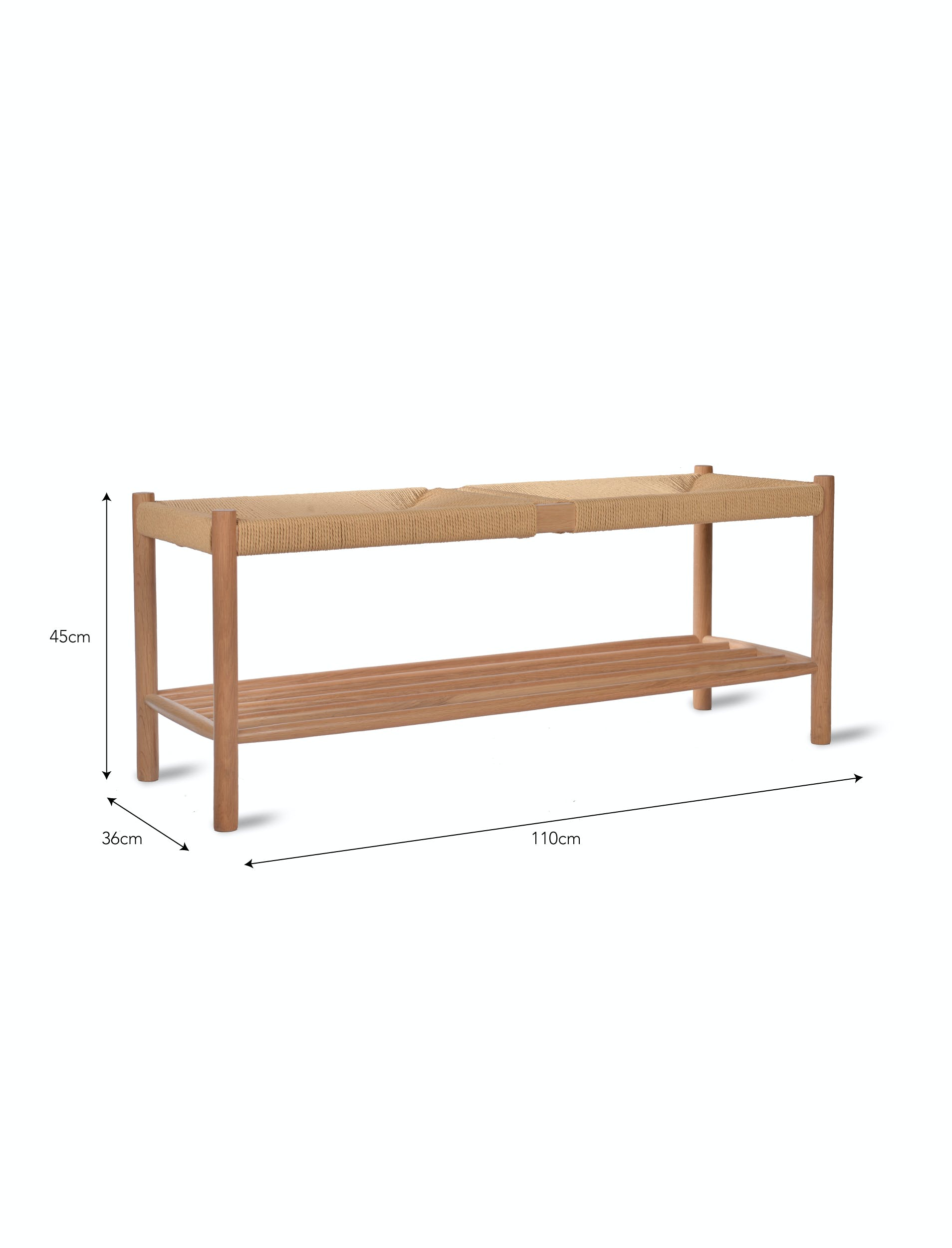 Oak Longworth Hallway Bench | Garden Trading