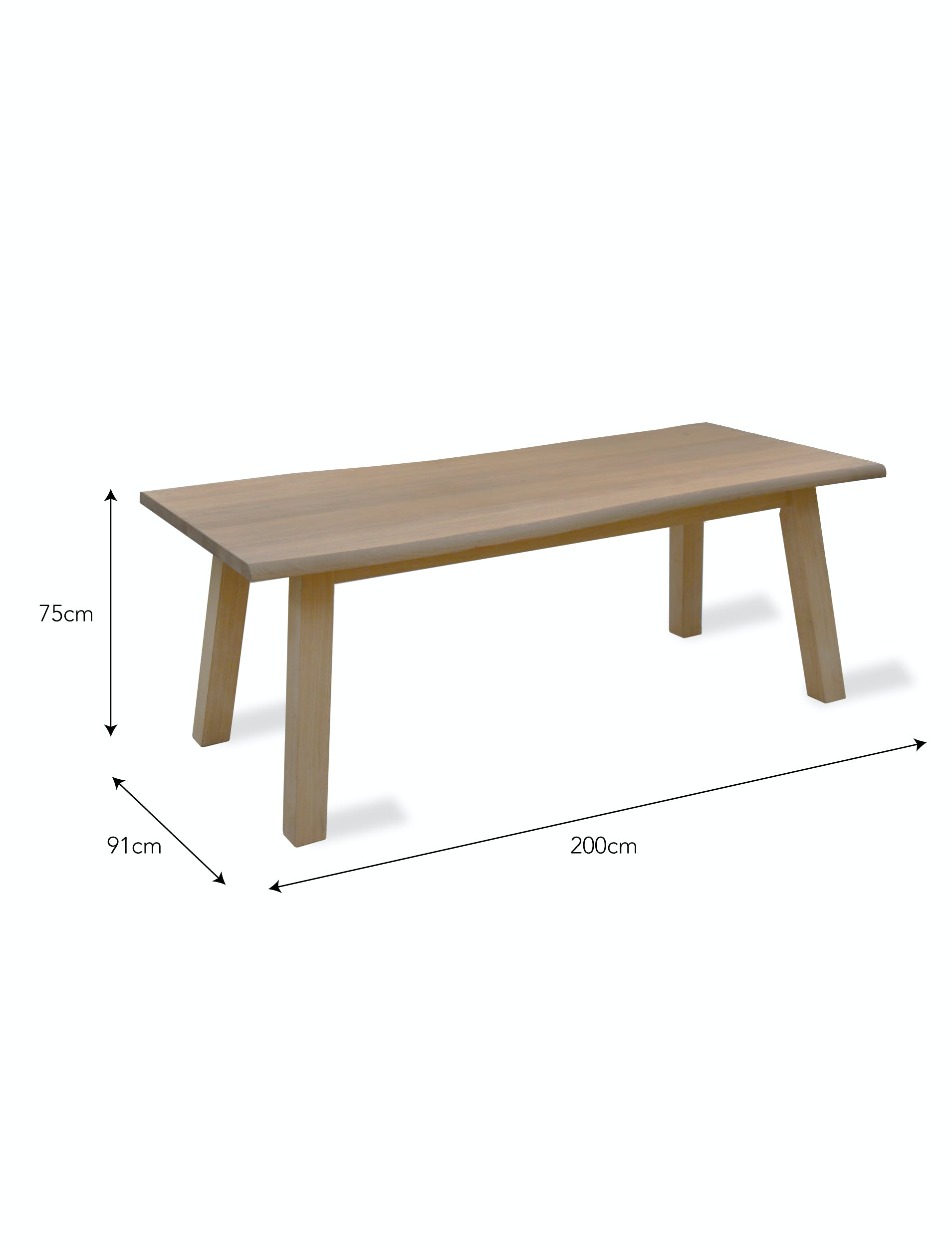 Wooden Oakridge Dining Table | Garden Trading